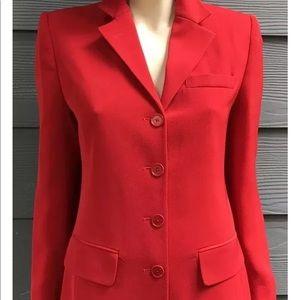 Ralph Lauren Women Blazer Sz 4 Red Lined Pockets